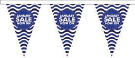 January Sale Style 7 Superior Bunting 10m (32') Long With 24 Flags