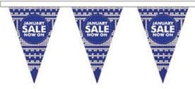 January Sale Style 9 Superior Bunting 10m (32') Long With 24 Flags