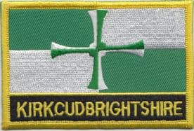 Kirkcudbrightshire Flag Embroidered Rectangular Patch