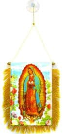 Lady of Guadalupe Hanging Car Flag Pennant