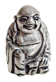 Laughing Buddha Ta-pao Mi-Lei-Fwo Small Pewter Ornament - Made in Cornwall