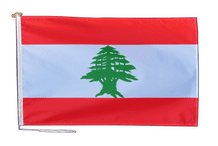 Lebanon Flag With Rope and Toggle - Various Sizes