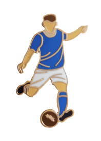 Leicester City Football Player Gold Plated Pin Badge