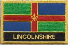 Lincolnshire Flag Embroidered Rectangular Patch
