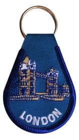 London Tower Bridge Embroidered Keyring - A254