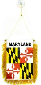 Maryland US State Hanging Car Flag Pennant