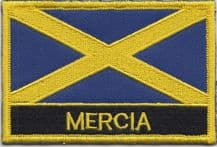 Mercia Region Flag Embroidered Rectangular Patch