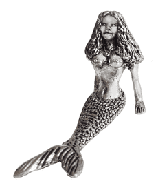 Mermaid Relaxing Pewter Ornament - Hand Made In Cornwall - FL3
