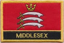 Middlesex Flag Embroidered Rectangular Patch