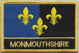 Monmouthshire Sir Fynwy Embroidered Rectangular Patch
