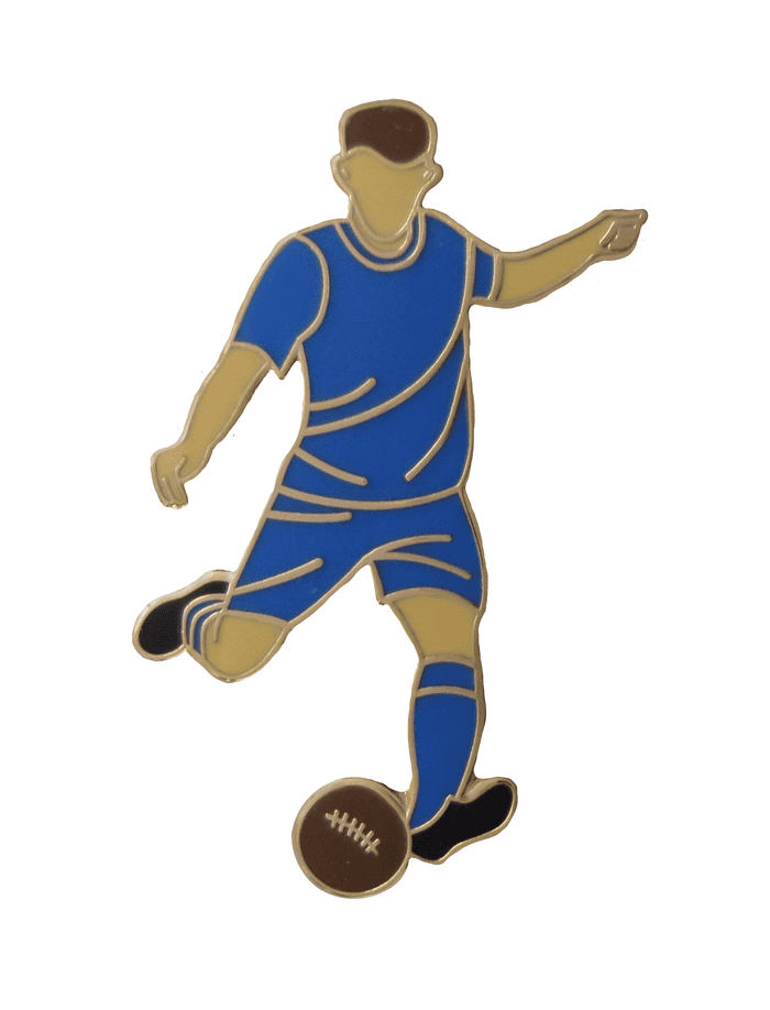 Montrose Football Player Gold Plated Pin Badge