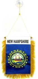 New Hampshire US State Hanging Car Flag Pennant