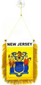 New Jersey US State Hanging Car Flag Pennant