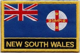 New South Wales Australia Flag Embroidered Rectangular Patch Badge