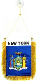 New York US State Hanging Car Flag Pennant