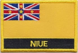 Niue Embroidered Rectangular Patch
