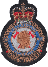 No. 421 Squadron Royal Canadian Air Force RCAF Crest Embroidered Patch