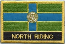 North Riding of Yorkshire Flag Embroidered Rectangular Patch