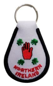 Northern Ireland Red Hand & Belfast Double-Sided Embroidered Keyring - A297