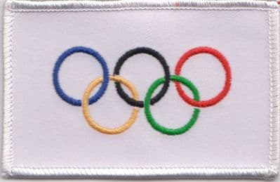 Olympic Games IOC Flag Embroidered Badge