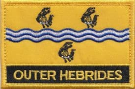 Outer Hebrides Na h-Eileanan Siar Flag Embroidered Rectangular Patch