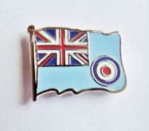 RAF Royal Air Force Blue Ensign Wavy Flag Pin Badge - MOD Approved - M16