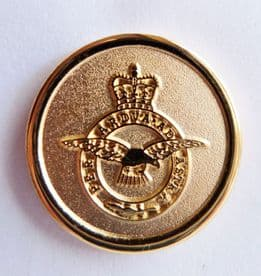 RAF Royal Air Force Crest Round Gilt Pin Badge - MOD Approved - M86