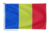 Romania Flag With Rope and Toggle - Various Sizes