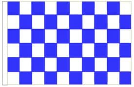 """Royal Blue And White Check 18"""" x 12"""" (45cm x 30cm) Sleeved Boat Flag"""
