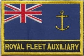 Royal Fleet Auxiliary RFA Royal Navy RN Ensign Flag Embroidered Patch
