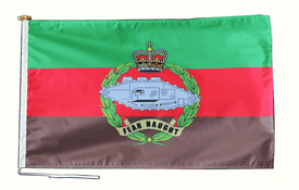 Royal Tank Regiment British Army Flag With Rope and Toggle - Various Sizes