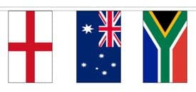 Rugby Union 2019 World Cup Flag Bunting - 6m Long