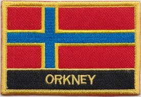 Scotland Orkney Arcaibh Flag Embroidered Rectangular Patch