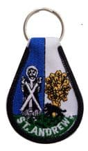 Scotland St Andrew Embroidered Keyring - A271