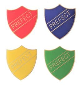 Set Of Four Prefect Badges For Schools Gold Plated Pin Badges - T1255X