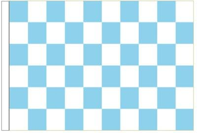Sky Blue And White Check 3' x 2' Sleeved Flag.