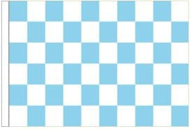 Sky Blue And White Check 5' x 3' Larger Sleeved Flag