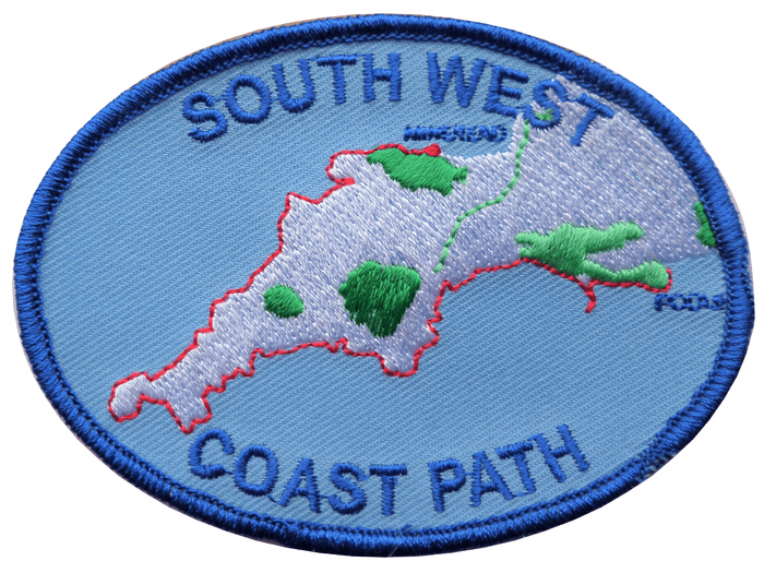South West Coast Path Minehead to Poole Harbour Embroidered  Patch - A530