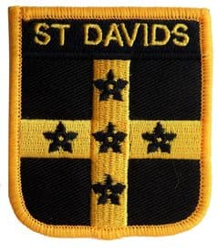 St Davids Wales Shield Embroidered Patch