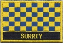 Surrey Flag Embroidered Rectangular Patch