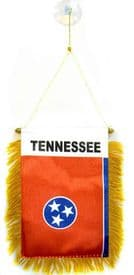 Tennessee US State Hanging Car Flag Pennant