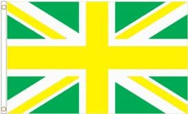 Union Jack Yellow and Green Polyester Flag