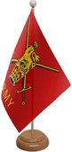 UNITED KINGDOM MILITARY TABLE FLAGS WITH WOOD BASE