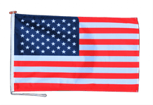 United States of America Flag With Rope and Toggle - Various Sizes
