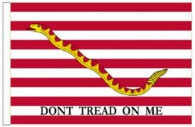 """United States of America USA First Navy Jack 18"""" x 12"""" (45cm x 30cm) Sleeved Boat Flag"""