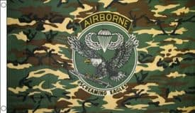 US Army 101st Airborne Division The Screaming Eagles Camoflage 5'x3' (150cm x 90cm) Flag