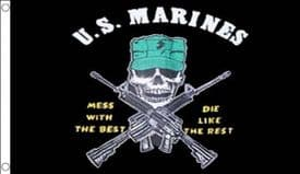 US Marine Corps Mess With The Best Die Like The Rest 5'x3' (150cm x 90cm) Flag