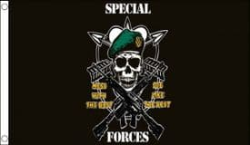 US Special (Green Berets) Forces Mess With The Best Die Like The Rest 5'x3' (150cm x 90cm) Flag