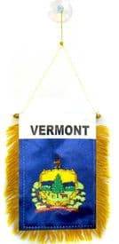 Vermont US State Hanging Car Flag Pennant