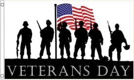 Veterans Day United States of America USA Armed Forces 5'x3' (150cm x 90cm) Flag